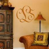 Entwined Monogram Wall Sticker Decal