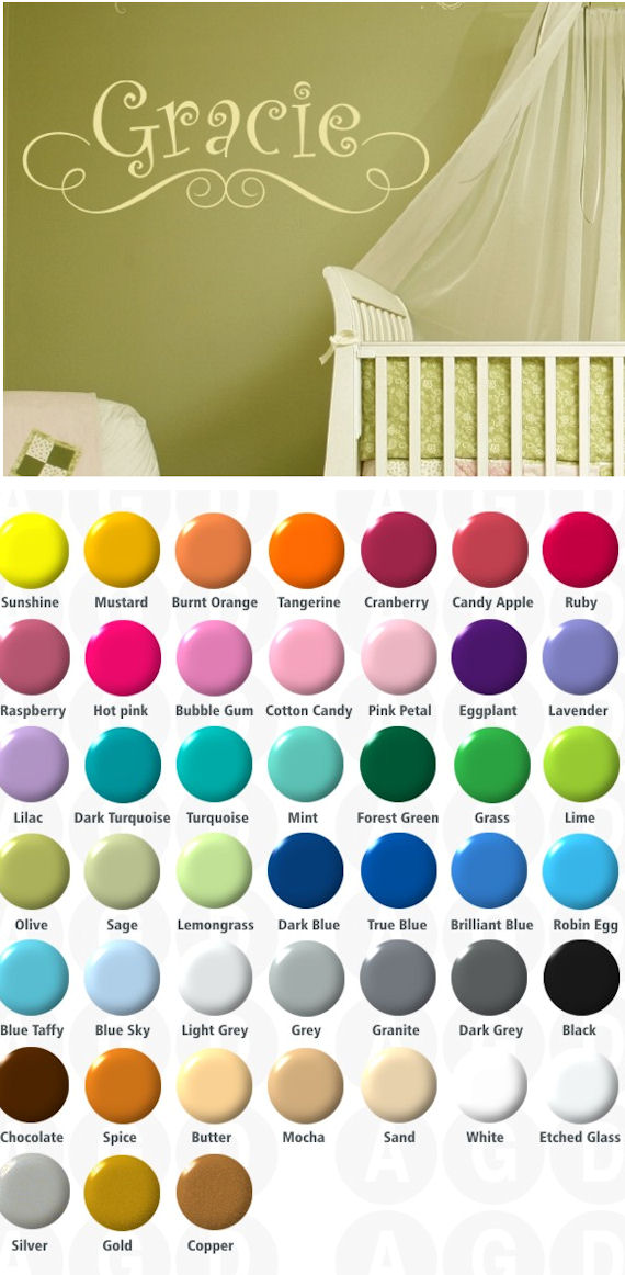 Gracies Personalized Wall Sticker Decal - Wall Sticker Outlet