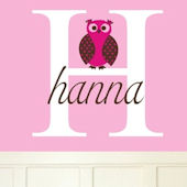 Hannas Owl Wall Sticker Decal