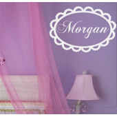 Lace Monogram Wall Sticker Decal