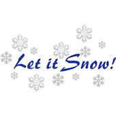 Let It Snow Wall Sticker Decal