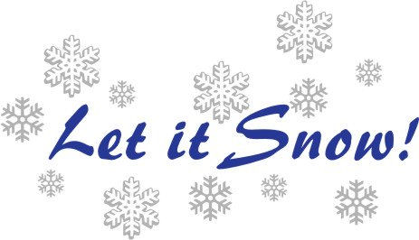 Let It Snow Wall Sticker Decal - Wall Sticker Outlet