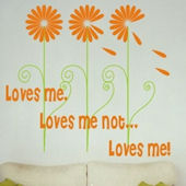 Loves Me Wall Decal Sticker