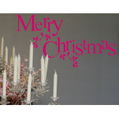 Merry Christmas Wall Sticker Decal