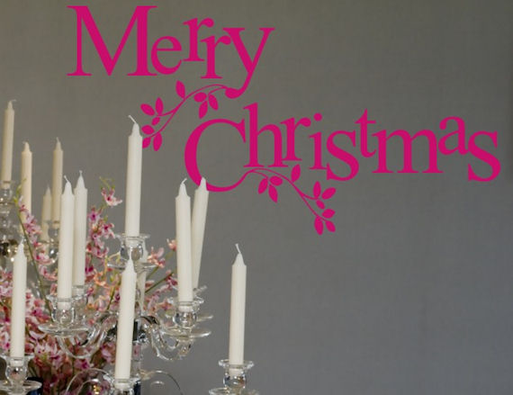 Merry Christmas Wall Sticker Decal - Wall Sticker Outlet