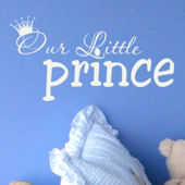 Our Little Prince Wall Decal Sticker