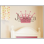 Personalized Girls Crown Wall Decal Sticker