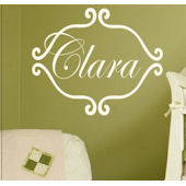 Princess Clara Monogram Wall Sticker Decal
