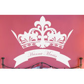 Personalized Royal Crown Wall Decal