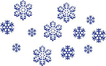 Customized Snowflakes Wall Sticker Decal - Wall Sticker Outlet