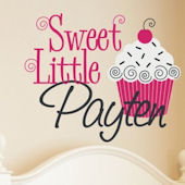 Sweet Cupcake Personalized Wall Sticker Decal