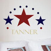 Three Stars Wall Sticker Decal