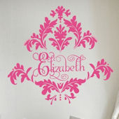 Tres Chic Damask  Wall Sticker Decal