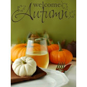 Welcome Autumn Wall Sticker Decal