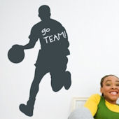 Chalkboard Basketball Player Sticker