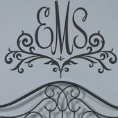 Scroll Monogram Customized Wall Decal