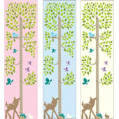 Tree with Animals Canvas Growth Chart