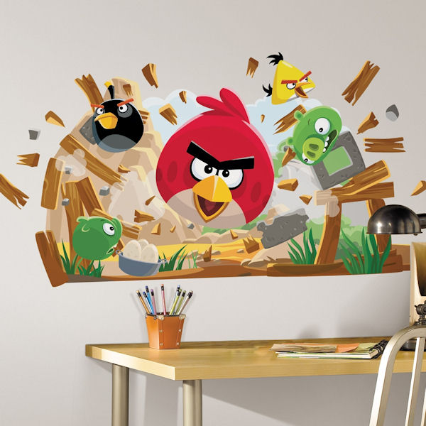 Angry birds giant wall decals for Angry bird wall mural