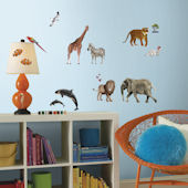 Animals Of The World Wall Decals