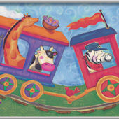 Animal Train Minute Mural