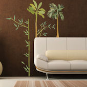 Art Applique Exotic Bamboo Wall Sticker