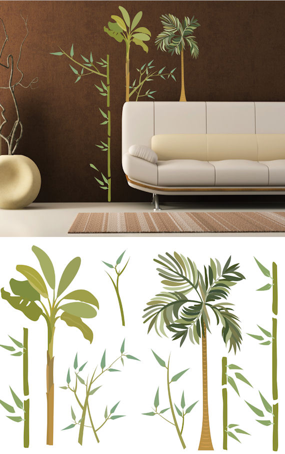Art Applique Exotic Bamboo Wall Sticker - Wall Sticker Outlet