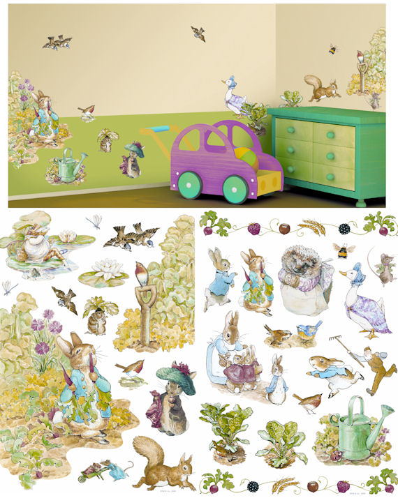 Art Applique Beatrix Potter Wall Sticker - Wall Sticker Outlet