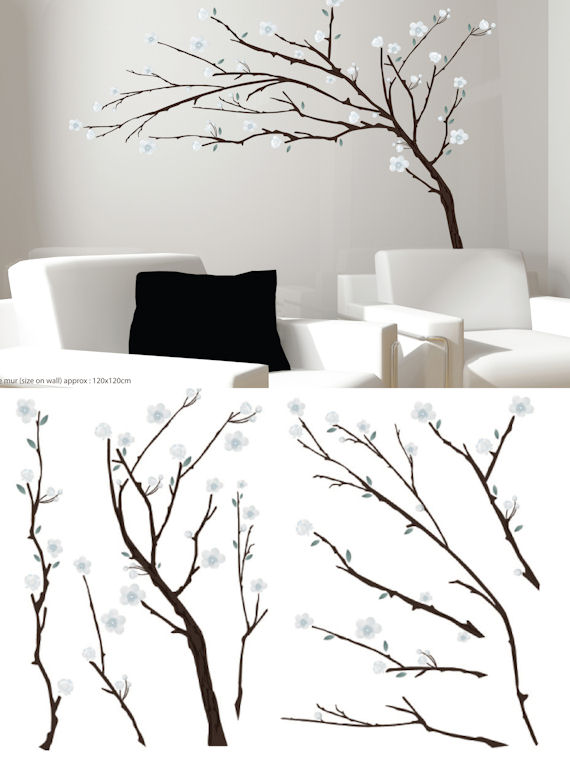 Art Applique Branches Wall Sticker - Wall Sticker Outlet