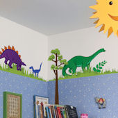 Art Applique Dinosaur Wall Sticker