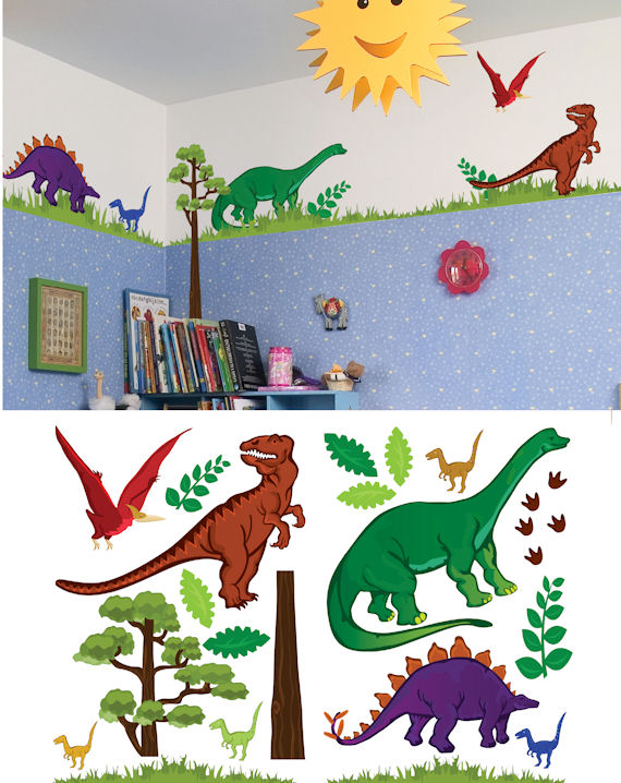 Art Applique Dinosaur Wall Sticker - Wall Sticker Outlet