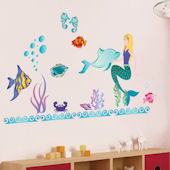 Art Applique Mermaid Wall Sticker