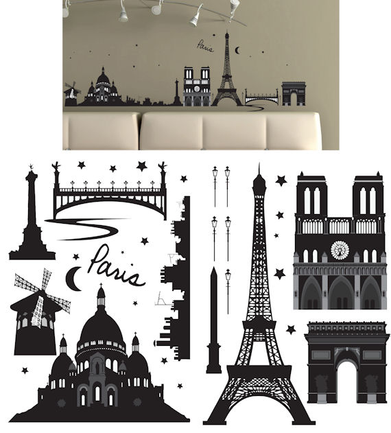Art Applique Paris Wall Sticker - Wall Sticker Outlet