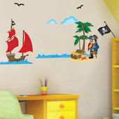 Art Applique Pirates Wall Sticker
