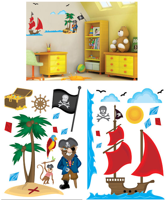 Art Applique Pirates Wall Sticker - Wall Sticker Outlet