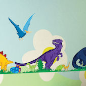 Art Applique Small Dinosaur Wall Stickers