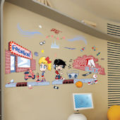 Art Applique Street Art Wall Sticker