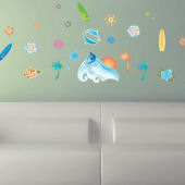 Art Applique Surfs Up Wall Stickers SALE