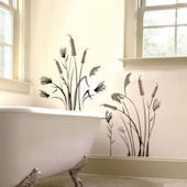 Art Applique Cat Tails Wall Sticker
