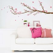 Art Applique Cherry Blossoms Wall Sticker