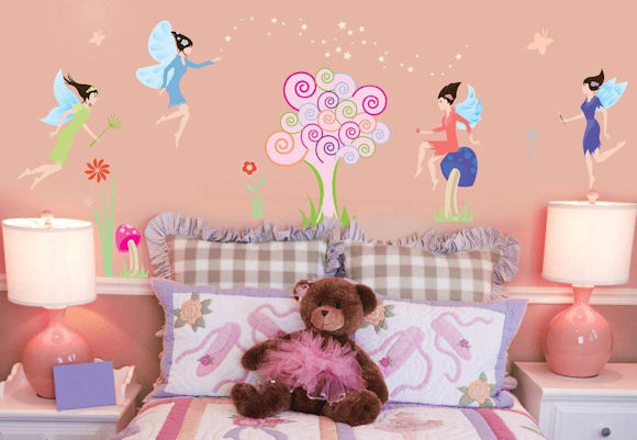 Art Applique Fairies Wall Sticker - Wall Sticker Outlet