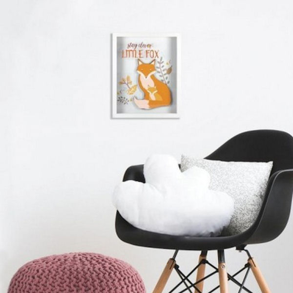 Patina Vie Stay Clever Little Fox Shadowbox - Wall Sticker Outlet