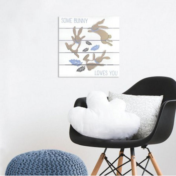 Patina Vie Some Bunny Loves You Wall Plank  - Wall Sticker Outlet
