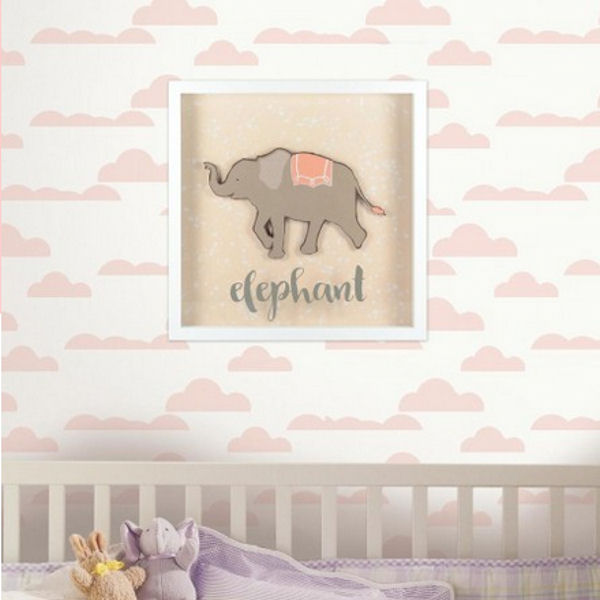 Patina Vie Elephant Shadowbox - Wall Sticker Outlet