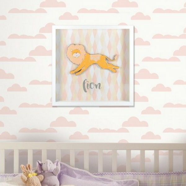 Patina Vie Lion Shadowbox - Wall Sticker Outlet