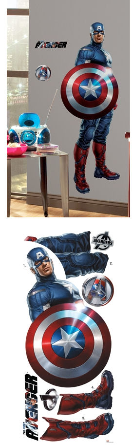 The Avengers Captain America Giant Wall Decal - Wall Sticker Outlet