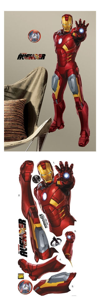 The Avengers Iron Man Giant Wall Decal - Wall Sticker Outlet