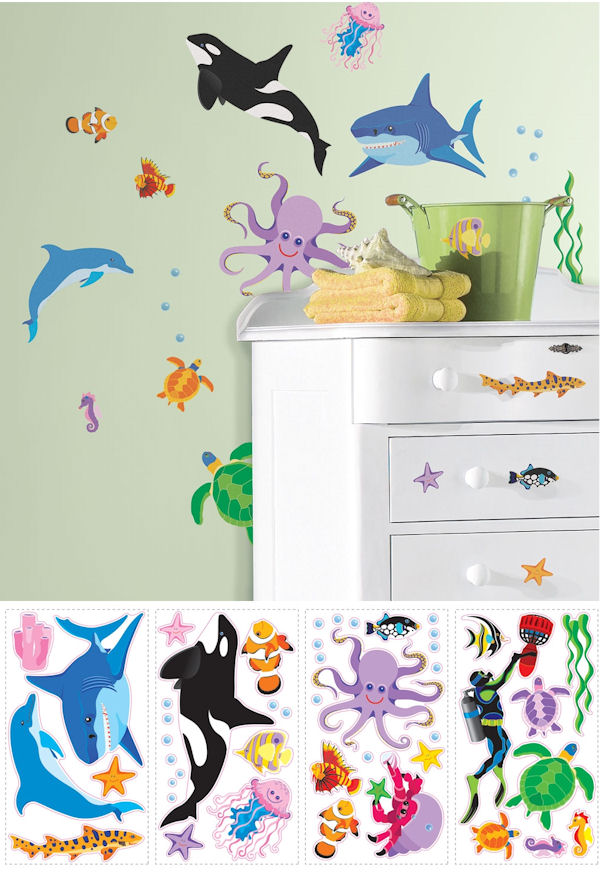Awesome Ocean Peel and Stick Decals - Wall Sticker Outlet