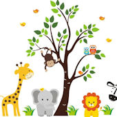 Baby Jungle Animal Wall Decals
