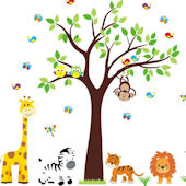 Baby Tiger Jungle Animal Wall Decals
