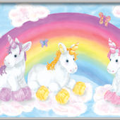 Baby Unicorn Minute Mural